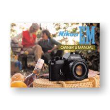 Nikon EM Owners Manual