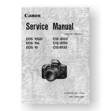 141-page PDF 22.9 MB download for the Canon CY8-1200-062 Service Manual Parts Catalog | EOS 10 | EOS 10s | EOS 10QD