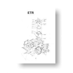Bronica ETR Parts List Download