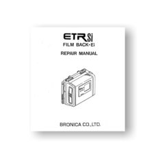 Bronica ETR Si Ei 120 220 Film Back Service Manual Download