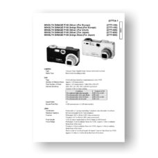 Minolta 2777 Service Manual Parts List | Dimage F100