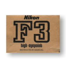 Nikon F3 HP Owners Manual Download