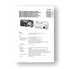 Minolta Dimage F300 Service Manual Parts List Download