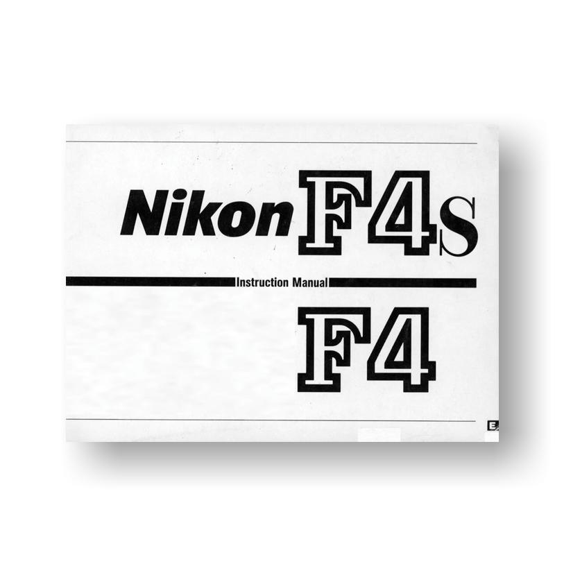 Nikon F4 F4s Owners Manual Download Uscamera Nikon Downloads Uscamera