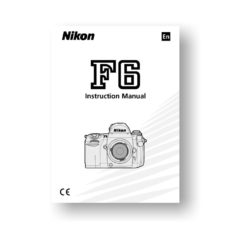 Nikon F6 Owners Manual Download