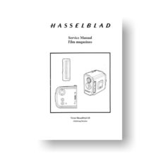 65-page PDF 31.1 MB download for the Hasselblad A12-A16-70mm Service Manual | Film Backs