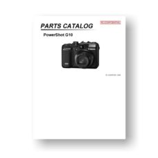24-page PDF 1.11 MB download for the Canon G10 Parts Catalog | Powershot Digital