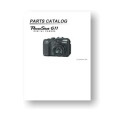Canon PowerShot G11 Parts List Download