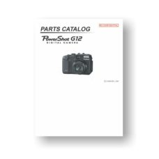 Canon PowerShot G12 Parts List Download