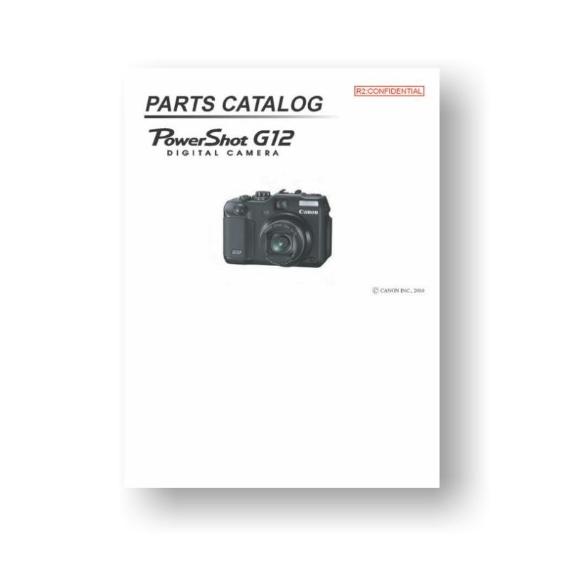 Canon PowerShot G12 Parts List Download