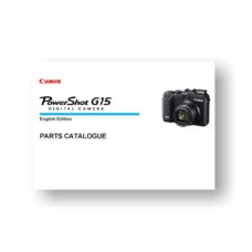11-page PDF 862 KB download for the Canon G15 Parts Catalog | Powershot