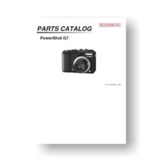 20-page PDF 908 KB download for the Canon G7 Parts Catalog | Powershot