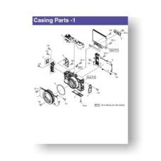 Canon PowerShot G7x Parts List Download