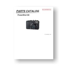 23-page PDF 1.23 MB download for the Canon G9 Parts Catalog | Powershot