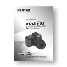 Pentax *ist DL Owners Manual Download