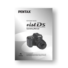 Pentax *ist DS Owners Manual Download