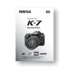 Pentax K-7 Owners Manual Download