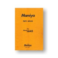 Mamiya M645 Service Parts Download