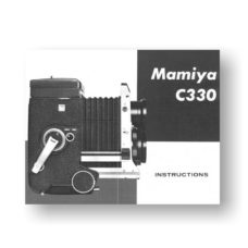 Mamiya C330 Owners Manual Download