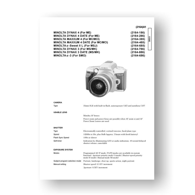 Minolta 2164 Service Manual