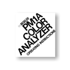 Beseler PM1A Color Analyzer Owners Manual Download