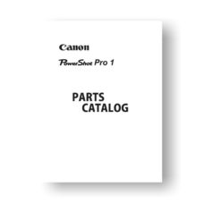 14-page PDF 852 KB download for the Canon Pro 1 Parts Catalog | PowerShot