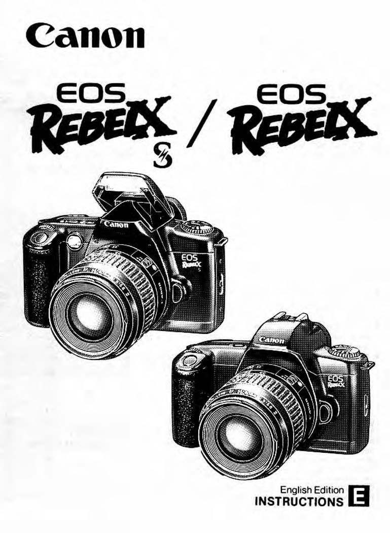 Canon Rebel X Rebel Xs Owners Manual Download Uscamera