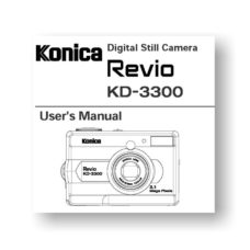 Konica Revio KD-3300 Owners Manual | Downloads