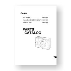 12-page PDF 576 KB download for the Canon S100 Digital-ELPH Parts Catalog