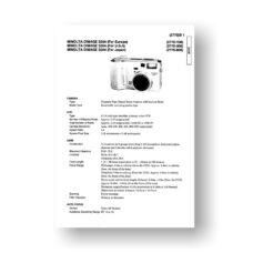 Minolta 2770 Service Manual Parts List | Dimage S304