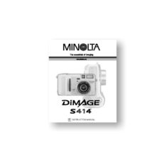 Minolta Dimage S414 Owners Manual Download