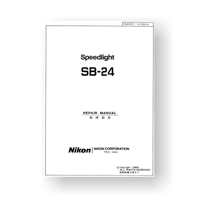 Nikon SB-24 Parts List