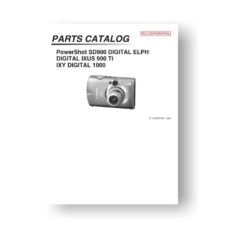 25-page PDF 1.02 MB download for the Canon SD900 Parts Catalog | PowerShot
