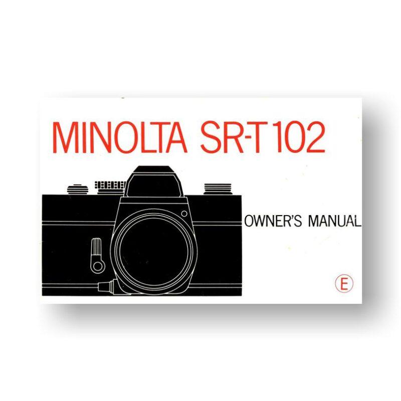 Minolta SRT 102 Owners Manual Download