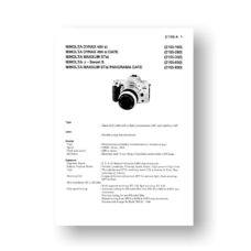 Minolta 2155 Service Manual Parts List | Maxxum STsi