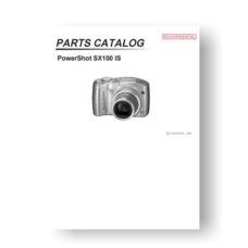 Canon SX100 IS Parts Catalog | Powershot