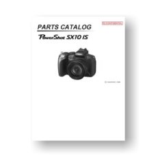 18-page PDF 1.27 MB download for the Canon SX10 IS Parts Catalog | Powershot