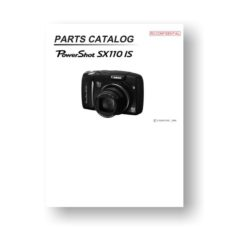 16-page PDF 3.42 MB download for the Canon SX110 IS Parts Catalog | Powershot