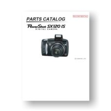 20-page PDF 5.72 MB download for the Canon SX120 IS Parts Catalog | Powershot