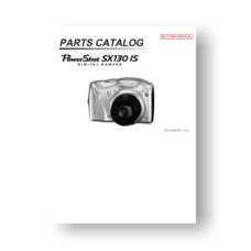 16-page PDF 3.87 MB download for the Canon SX130 IS Parts Catalog | Powershot