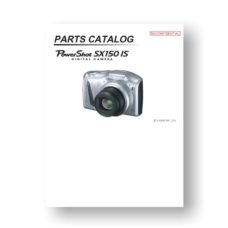 18-page PDF 1.61 MB download for the Canon SX150 IS Parts Catalog | Powershot