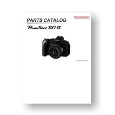 20-page PDF 1.61 MB download for the Canon SX1 IS Parts Catalog | Powershot