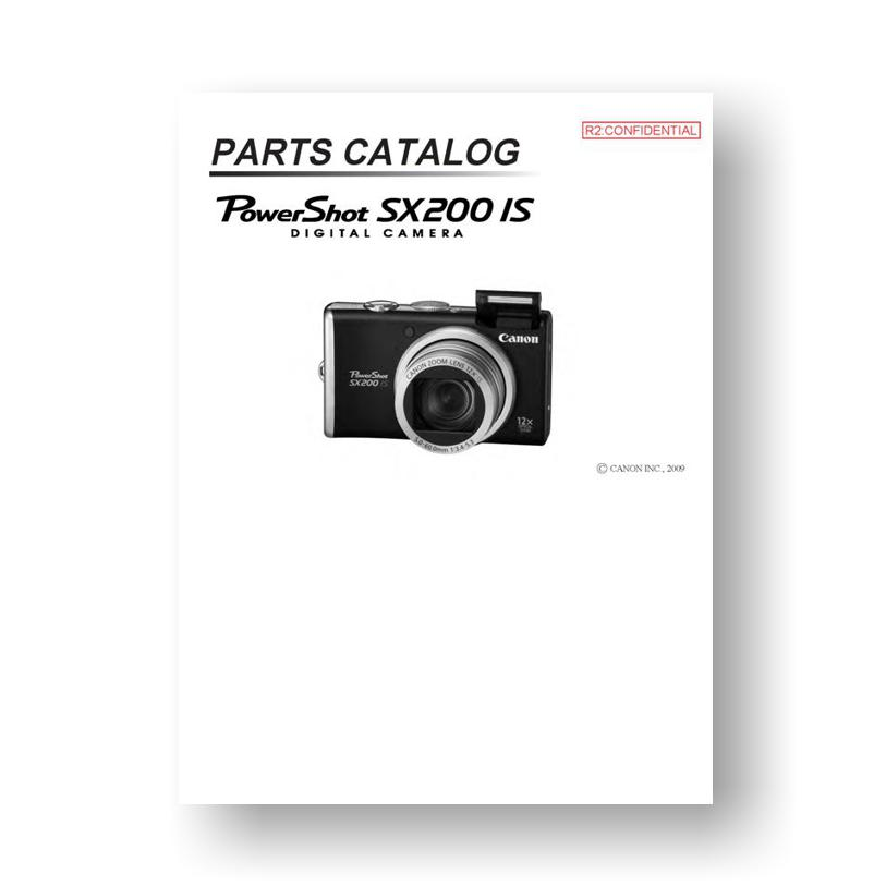 Canon powershot sx200 is manuals.