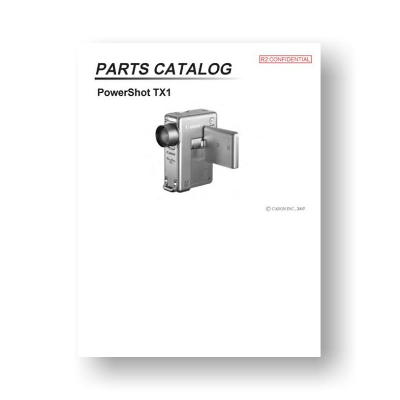 21-page PDF 1.23 MB download for the Canon TX1 Parts Catalog | PowerShot