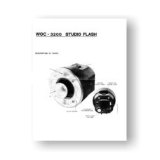 WOC 3200 AC Studio Flash Owners Manual Download