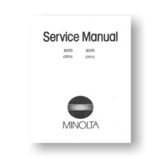 Minolta 2024-2025 Service Manual Parts List | X370 | X570