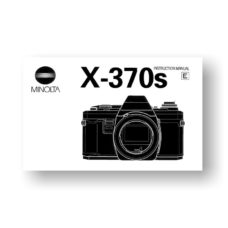 Minolta X-370s Owners Manual Download
