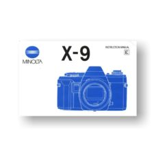 Minolta X-9 Owners Manual Download