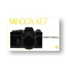 Minolta XE-7 Owners Manual Download