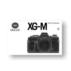 Minolta XG-M Owners Manual Download